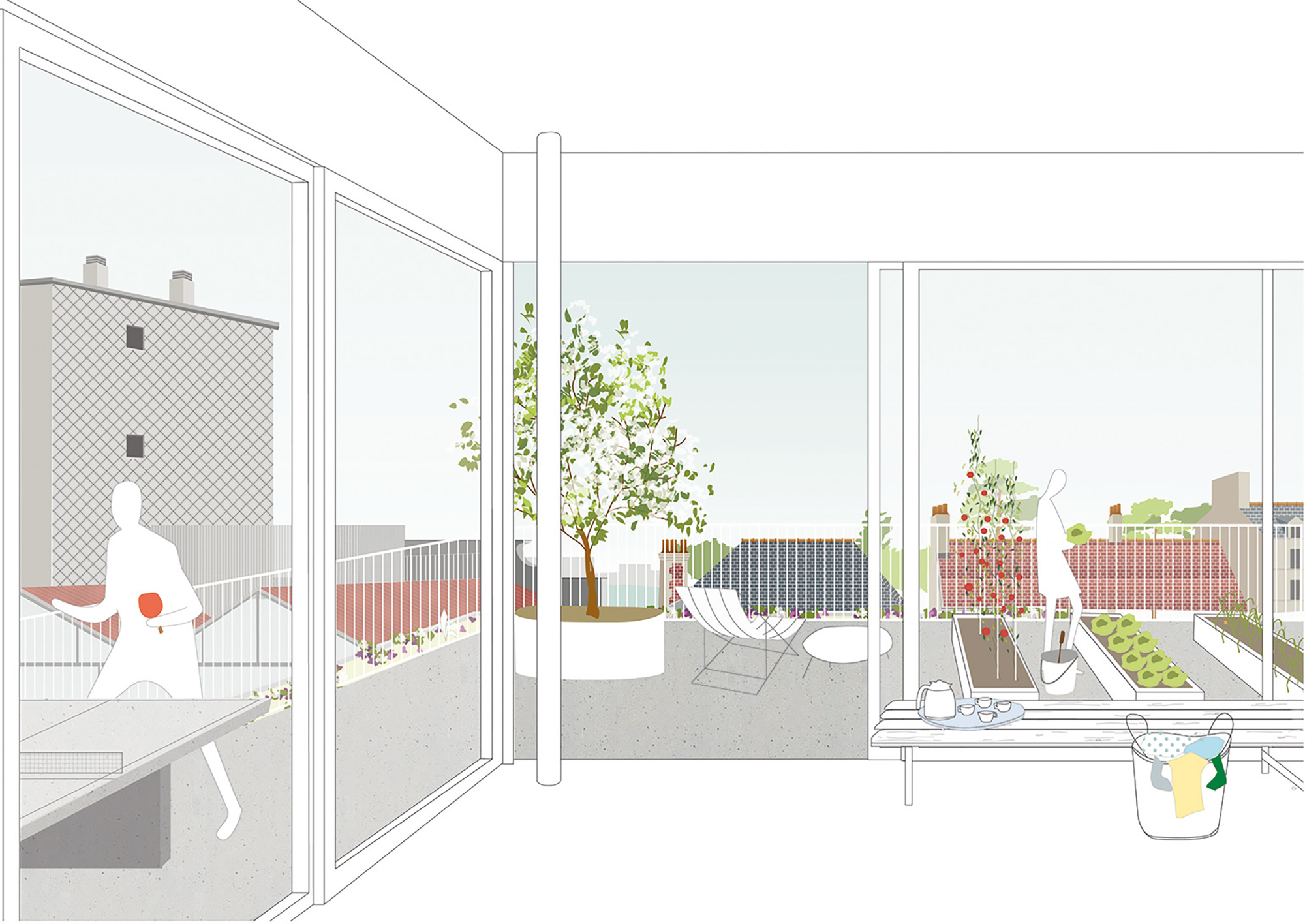 COLLECTIVE HOUSING UNITS - ATELIERS NORMANDS - 4