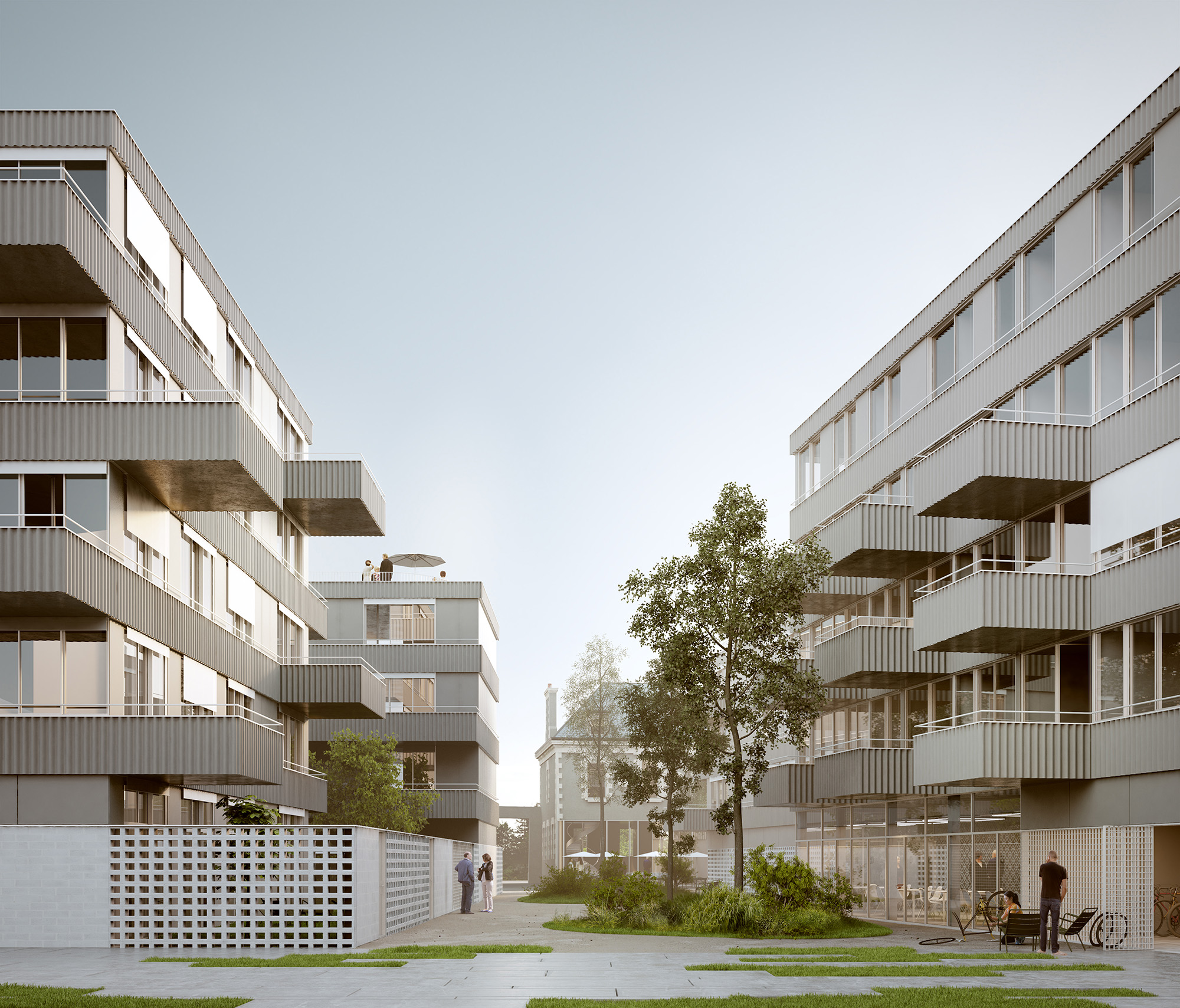 COLLECTIVE HOUSING UNITS - ATELIERS NORMANDS - 2